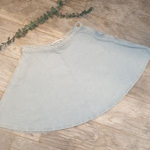 American Apparel High-waisted Jean Skirt